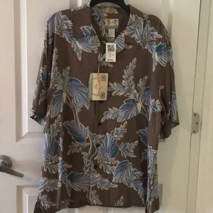 New with Tags Men's Reyn Spooner silk island shirt